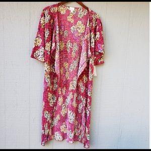 Lularpe Floral Shirley Kimono